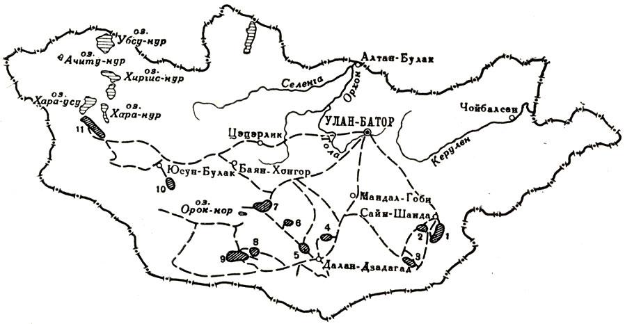 Схематическая карта маршрутов