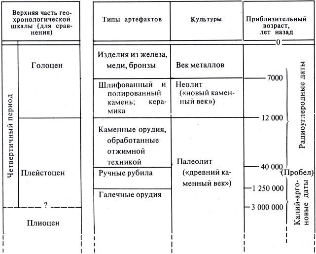 Таблица 5 Типы артефактов,